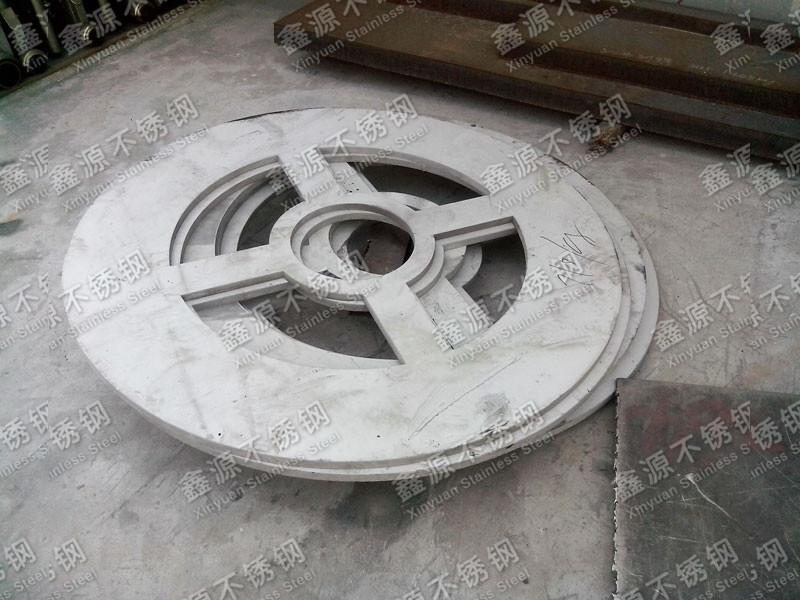 不锈钢水切割异形圆板